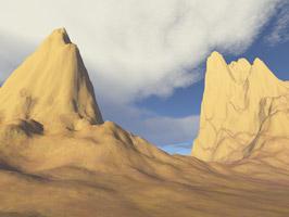 Cloudy peaks