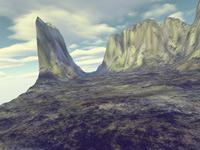 Mountain praise - raised, open hand